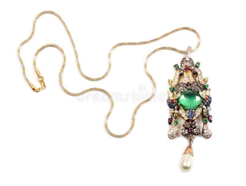 Golden nacklace stock photos