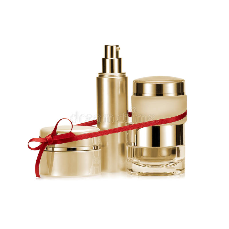Golden nameless beauty set gift stock photography