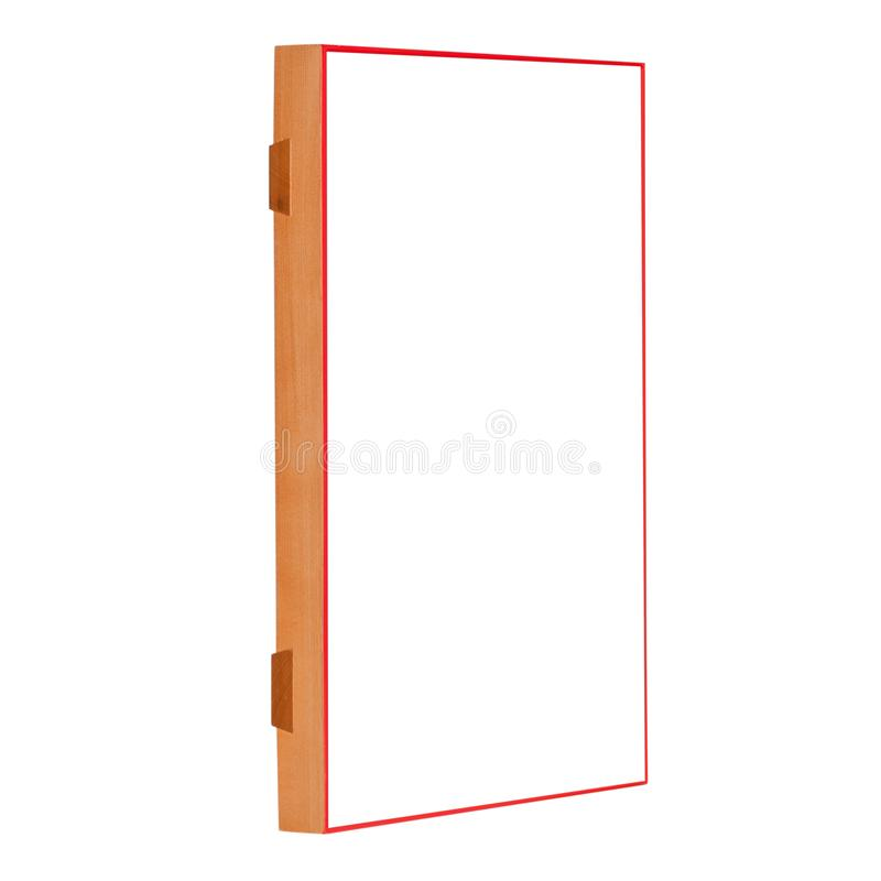 Golden natural color blank wooden frame for picture stock photo
