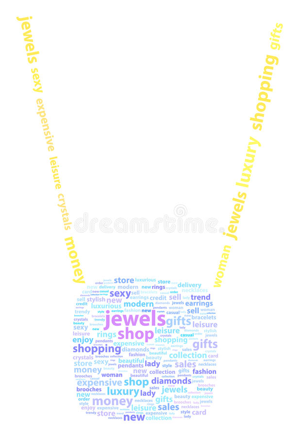 Golden Necklace With Diamond Pendant royalty free stock image