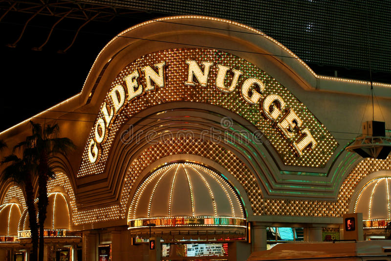 Golden Nugget Casino stock photo