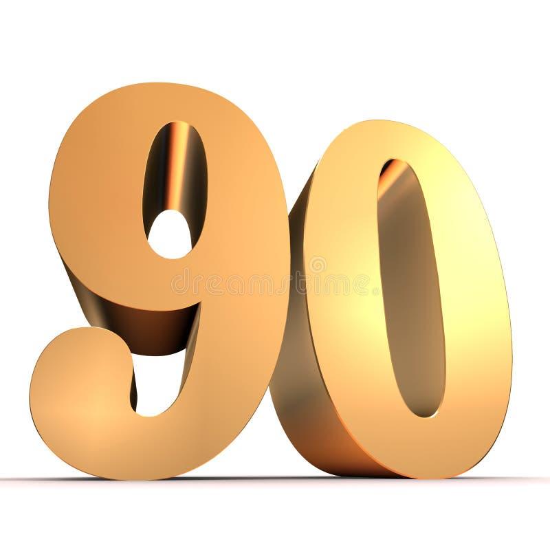 Download Golden number - 20 stock illustration. Image of element - 15435715