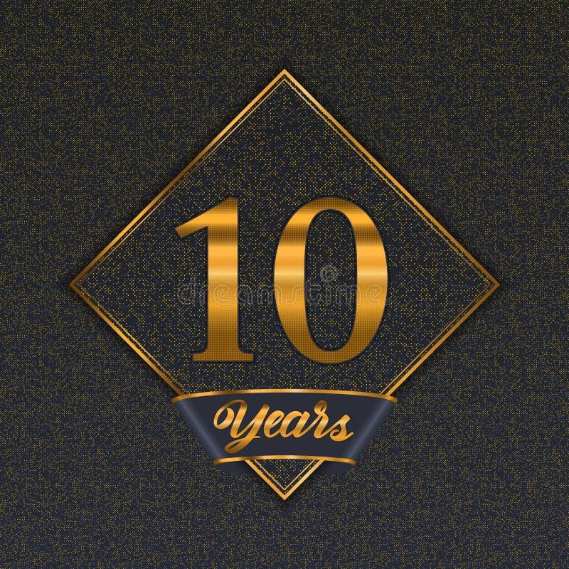 Golden number 10 templates royalty free illustration