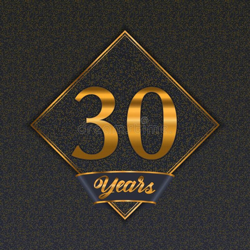 Golden number 30 templates royalty free illustration