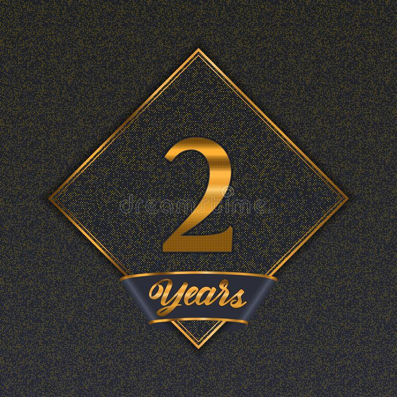 Golden number 2 templates royalty free illustration
