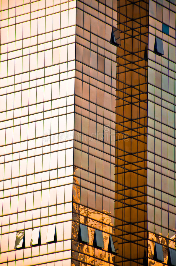 Golden Office building glass wall. In guangzhou, china royalty free stock photography