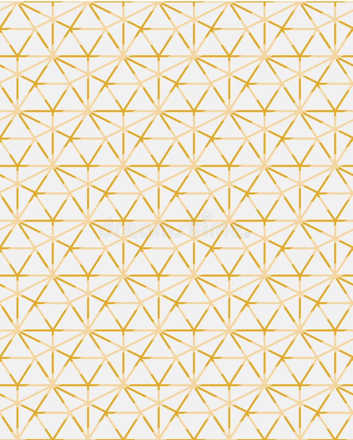 Golden ogrid geometric contemporary vector pattern mosaic inspired vector illustration