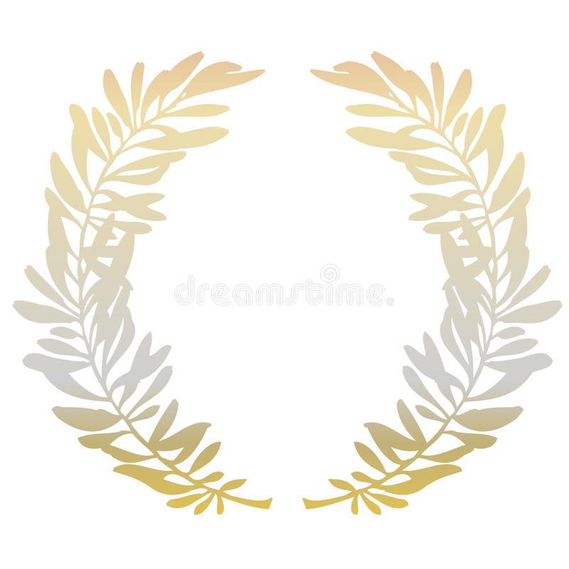 Golden olive branches vector illustration