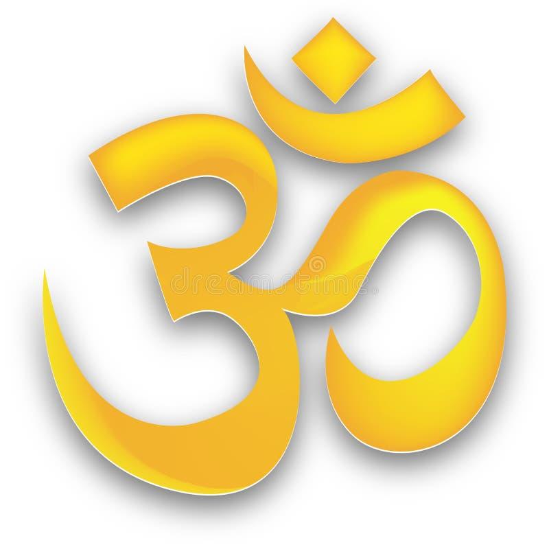 Download Golden om stock vector. Image of buddha, east, goddess - 15871046