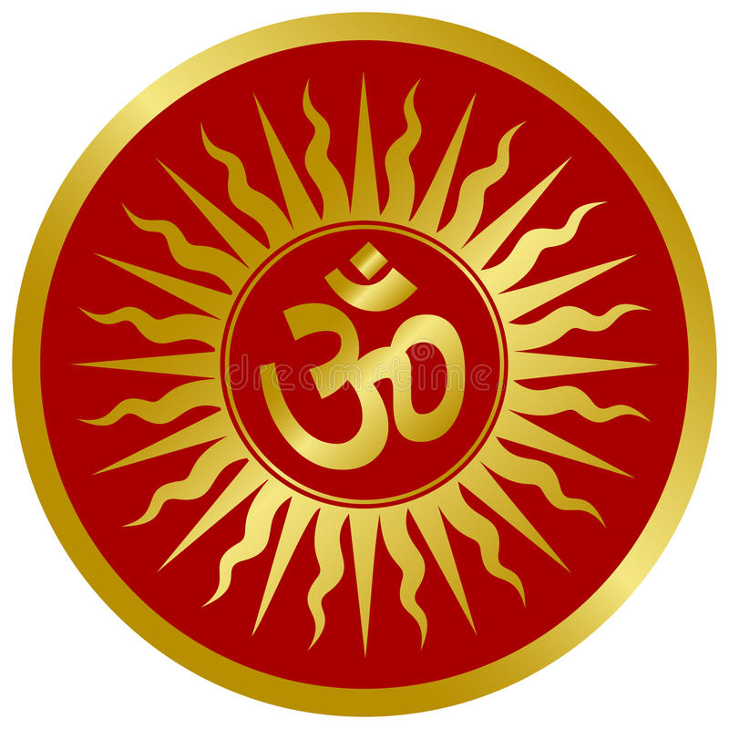 Golden Om Design vector illustration