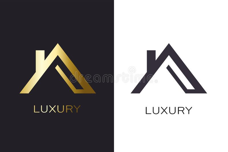 Real Estate Lucxury house Logo for Business royalty free illustration