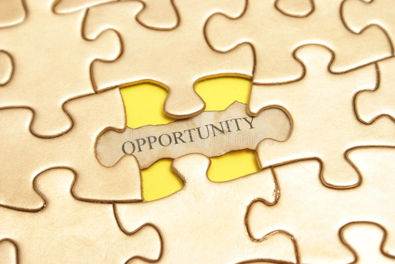 Golden Opportunity royalty free stock photography