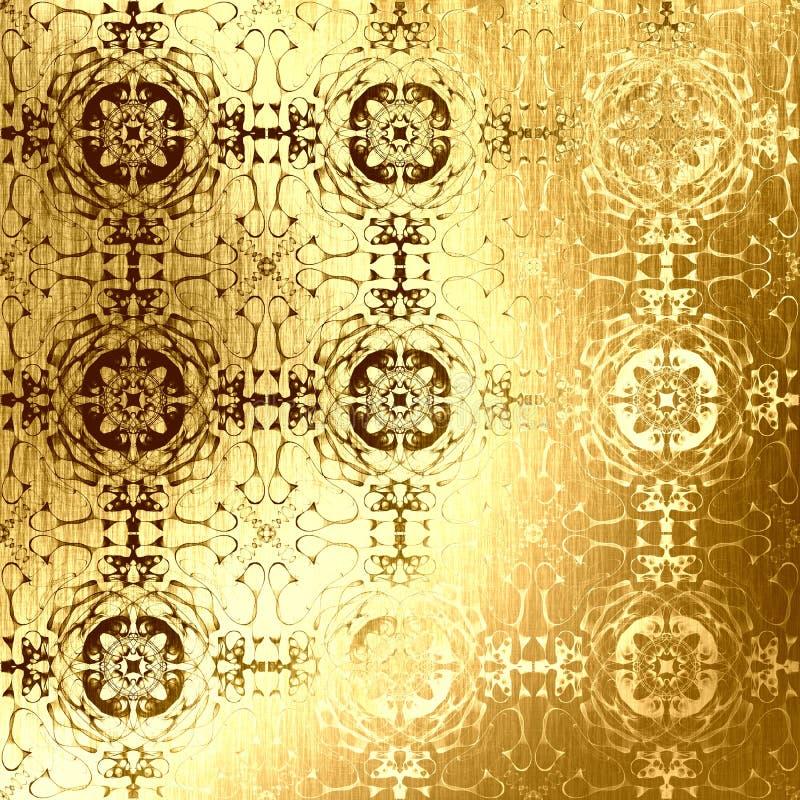 Golden oriental pattern, folk traditional elements royalty free stock photo