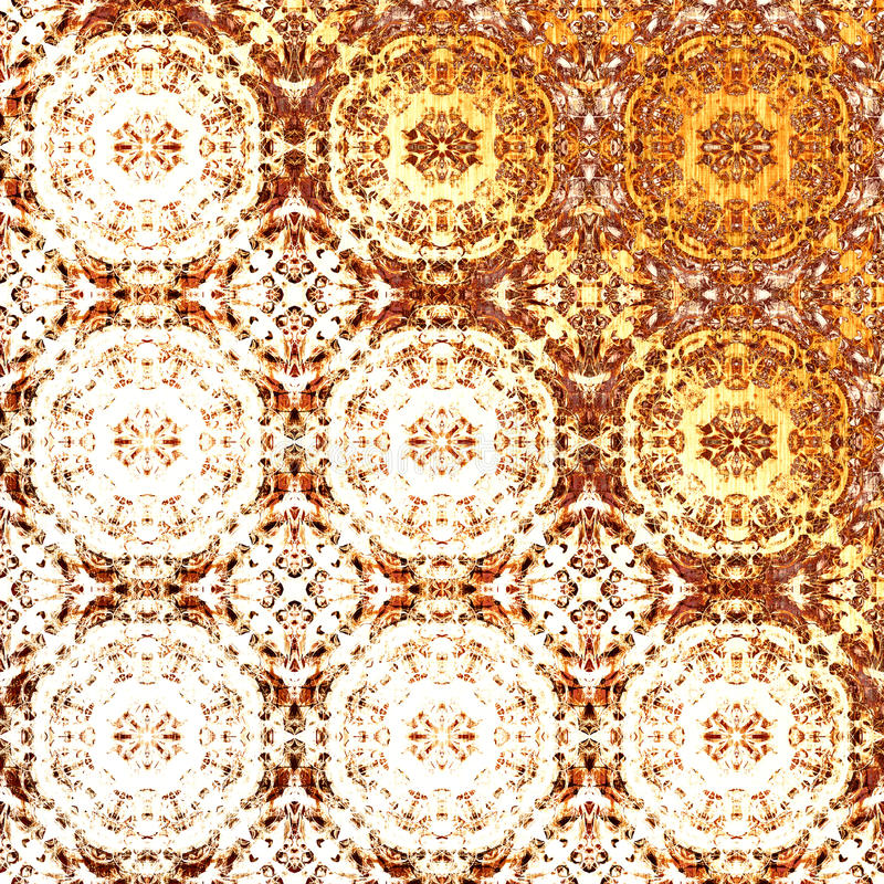 Golden oriental pattern, holiday folk traditional elements royalty free stock images