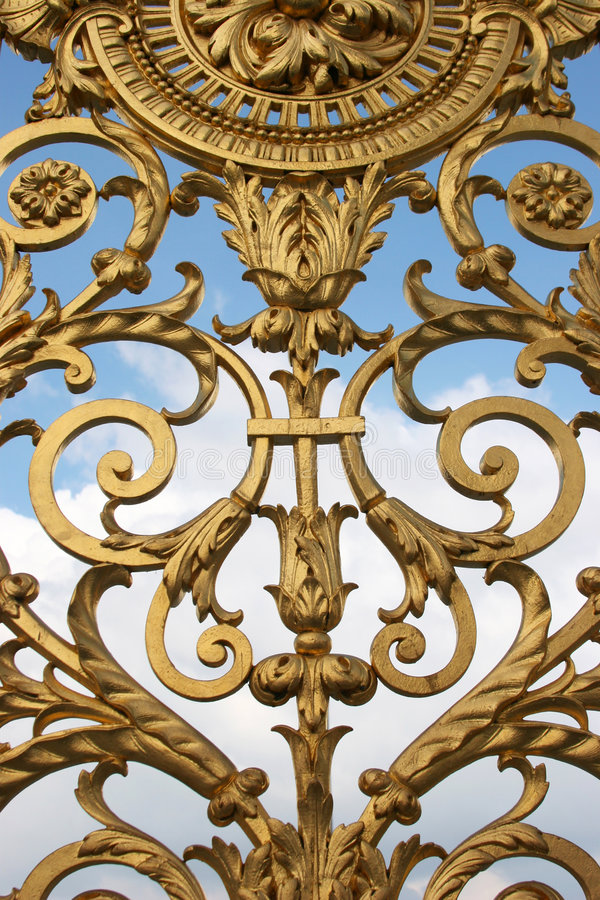 Download Golden Ornament stock image. Image of flower, french, blue - 456585