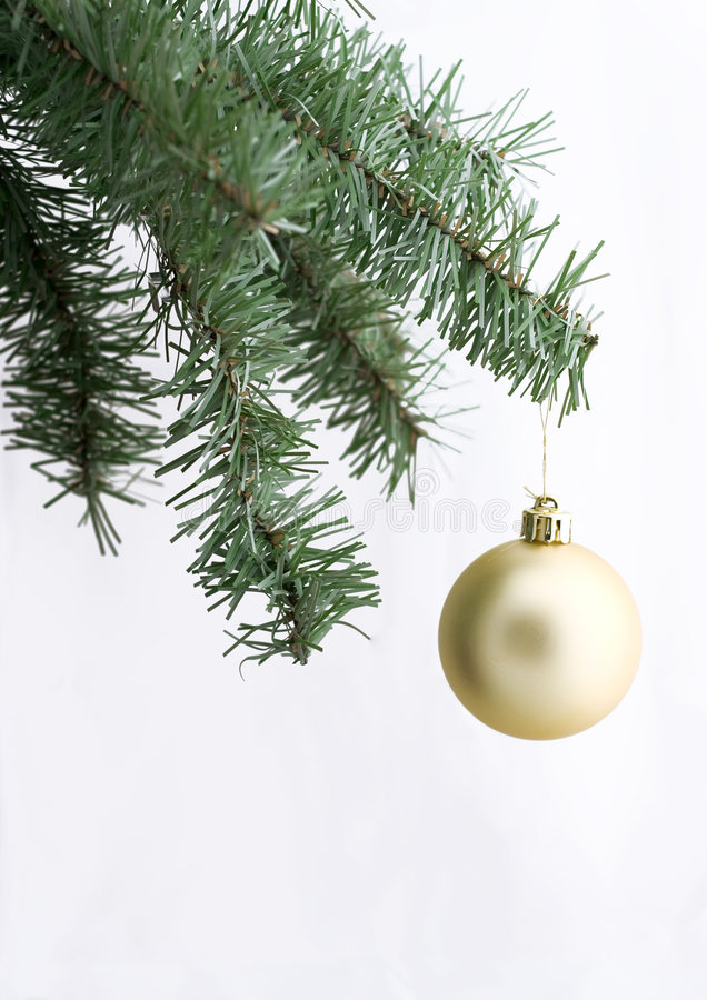 Download Golden Ornament On Christmas Tree Stock Image - Image: 315723