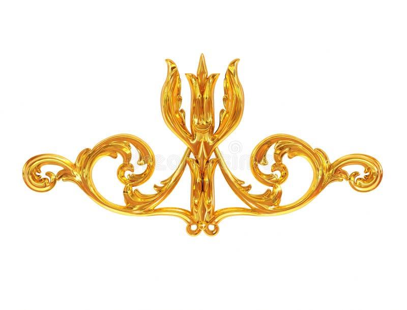 Golden ornament royalty free illustration