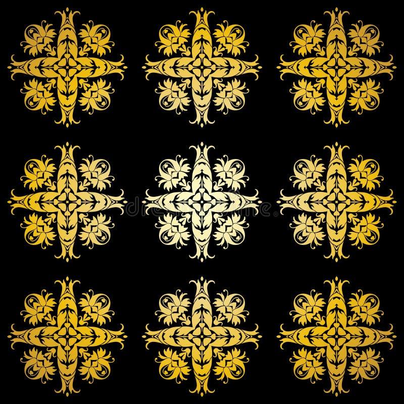 Golden Ornamental Background Stock Photography