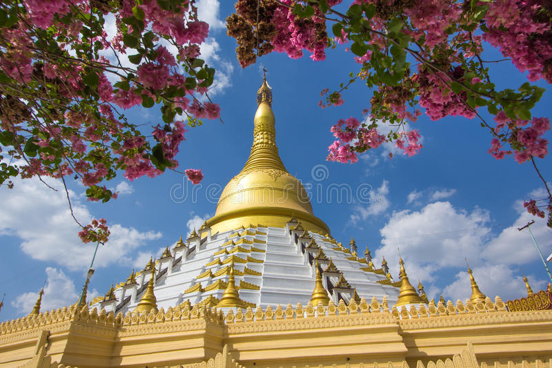 Golden pagoda Bago Myanmar. royalty free stock images
