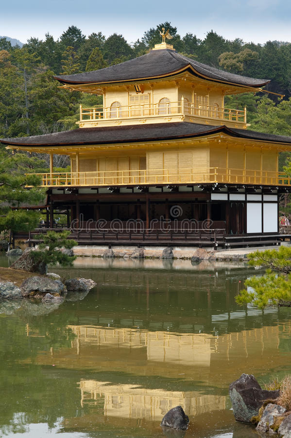 Golden Pagoda Castle in Kyoto royalty free stock image