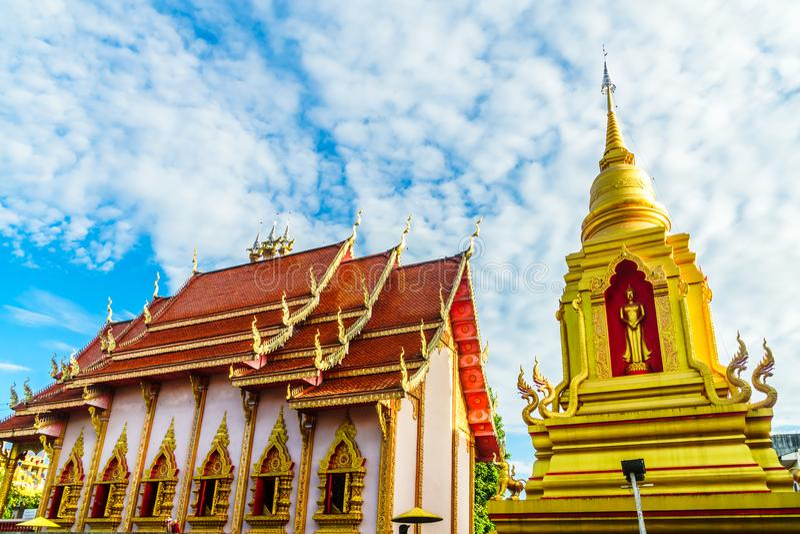 Golden pagoda in Chiang Rai - Thailand royalty free stock image