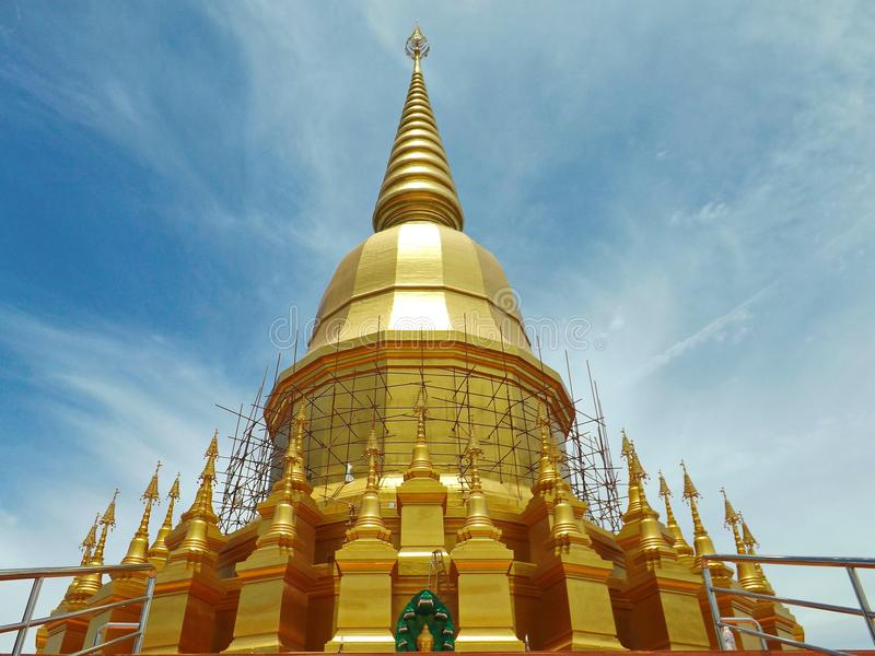 Golden Pagoda in Thailand stock photos