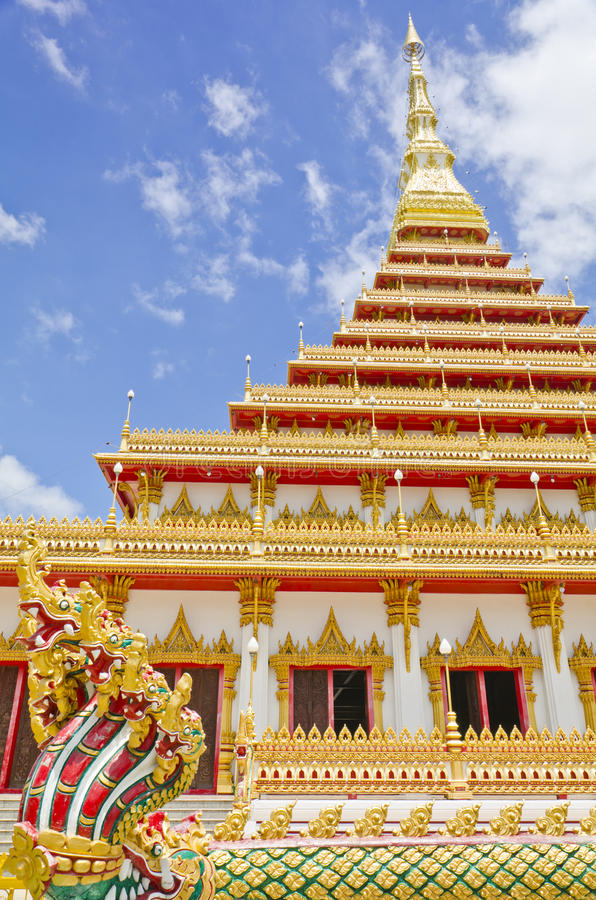 Download Golden Pagoda At The Temple, Khonkaen Thailand Stock Photo - Image: 26143522