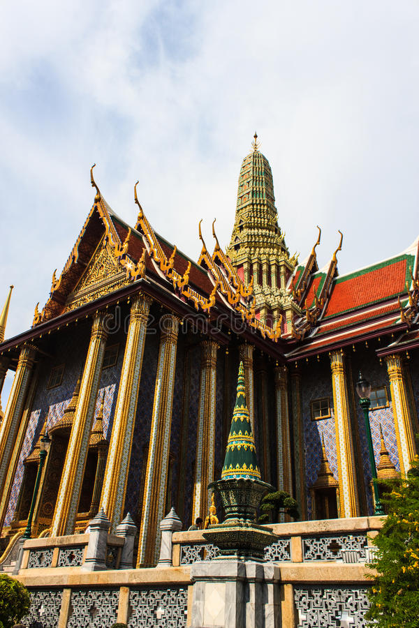 Golden Pagoda Thai Stupa in Grand Palace - at Wat Phra Kaew, Tem royalty free stock image