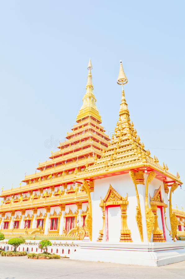 Download Golden Pagoda At The Thai Temple, Khonkaen Thailand Stock Image - Image: 28830489