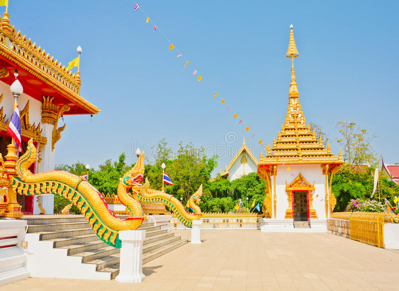 Download Golden Pagoda At The Thai Temple, Khonkaen Thailand Stock Image - Image: 28830617