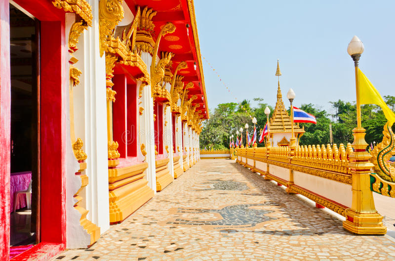 Download Golden Pagoda At The Thai Temple, Khonkaen Thailand Stock Photo - Image: 28830766
