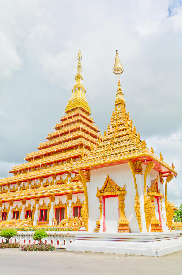 Download Golden Pagoda At The Thai Temple, Khonkaen Thailand Stock Photo - Image: 28831588