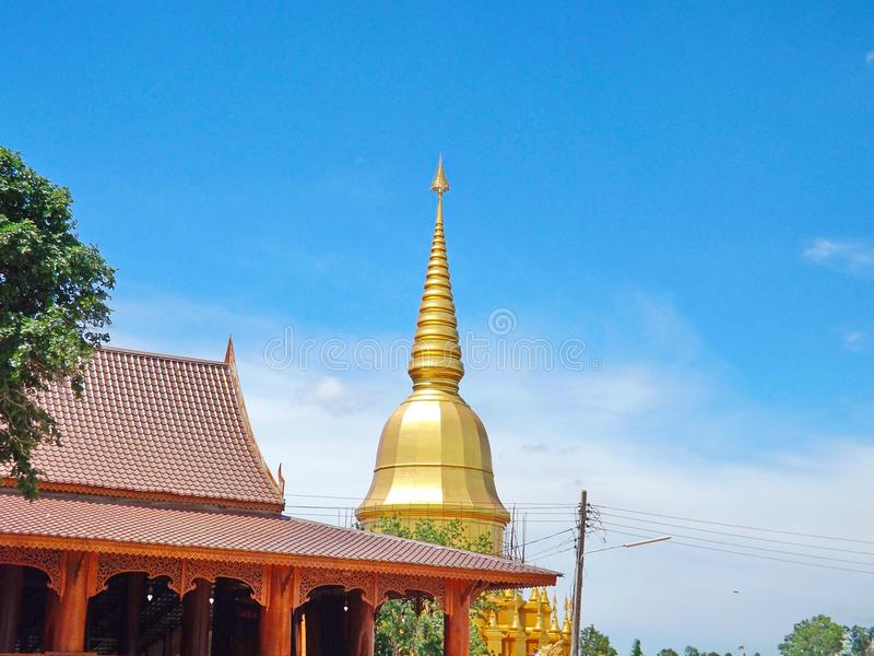 Golden Pagoda in Thailand stock photography
