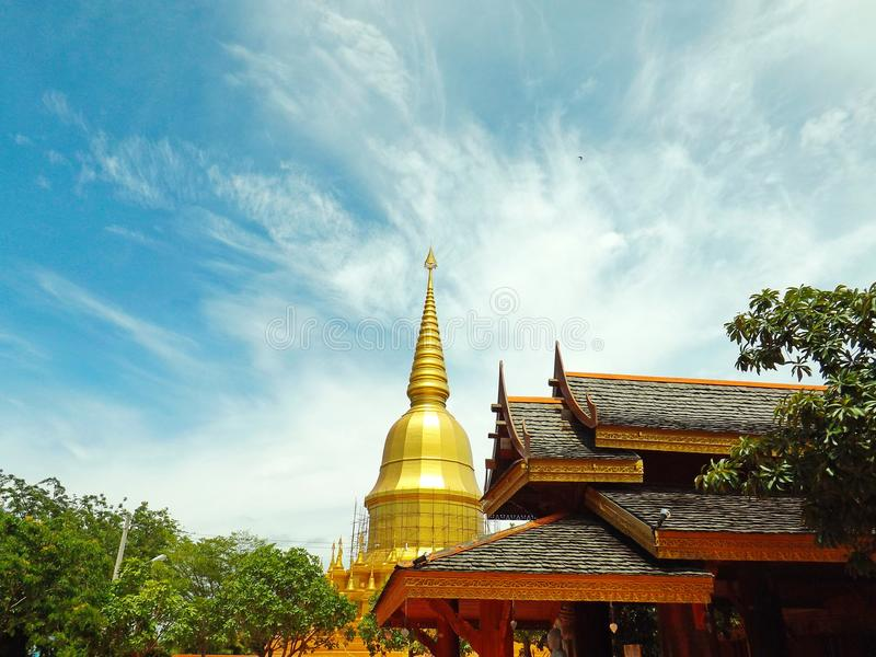Golden Pagoda in Thailand royalty free stock photography