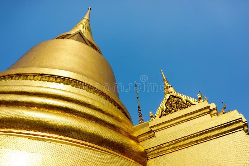 Golden Pagoda at Wat Phar Kaew royalty free stock images