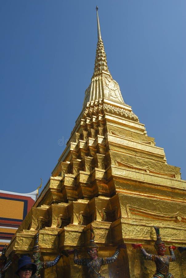 Golden pagoda, Wat Phra Kaeo (the Temple of the Emerald Buddha), Bangkok, Thailand royalty free stock photos