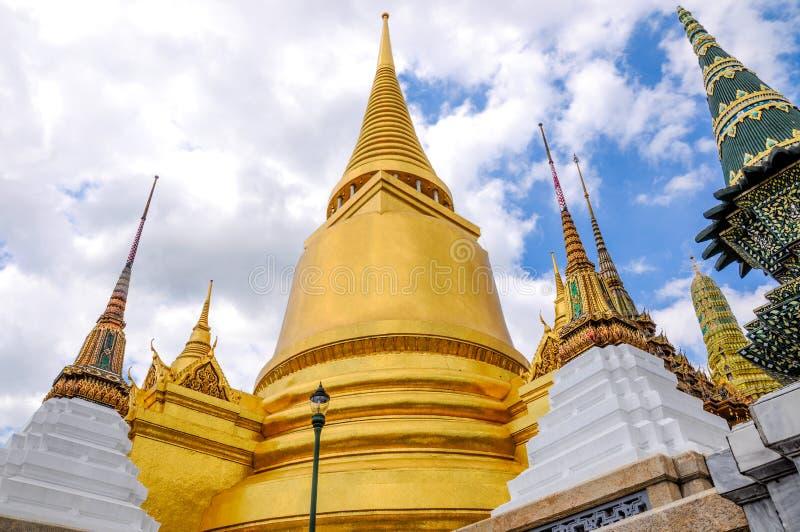 Golden Pagoda,Wat Phra Kaew, Bangkok, Thailand. royalty free stock photo