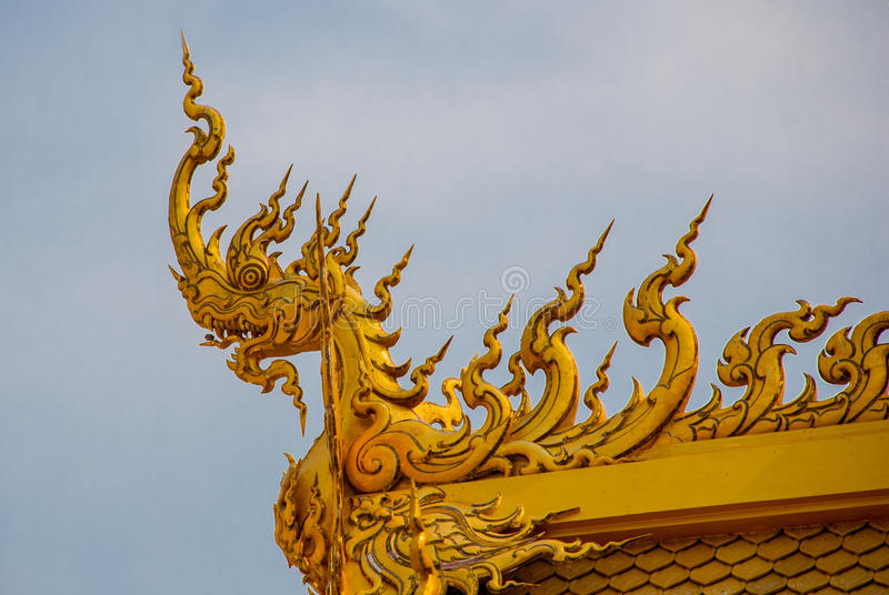 The Golden Palace. Toilet. Chiang Rai, Thailand. Beautiful Wat Rong Khun, aka The White Temple, in Chiang Rai, Thailand. The Golden Palace. Toilet stock photos