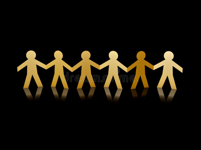 Download Golden paper men stock photo. Image of holding, gold - 20105860
