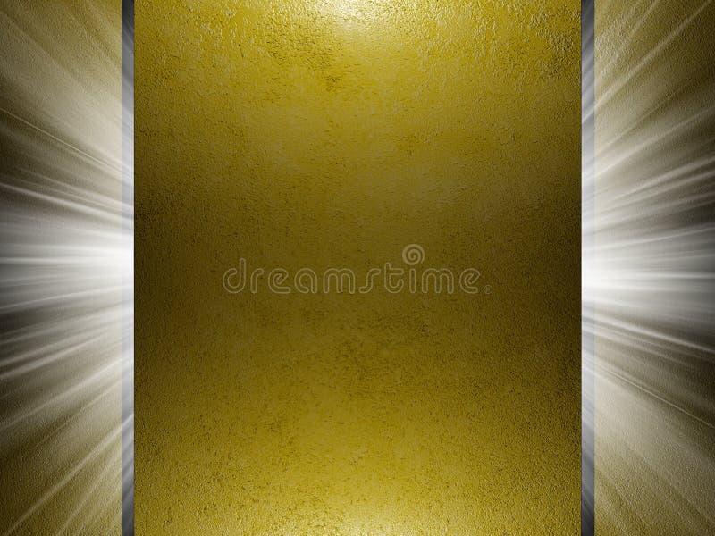 Golden paper texture 3d presentation. Golden texture, 3d presentation background stock illustration