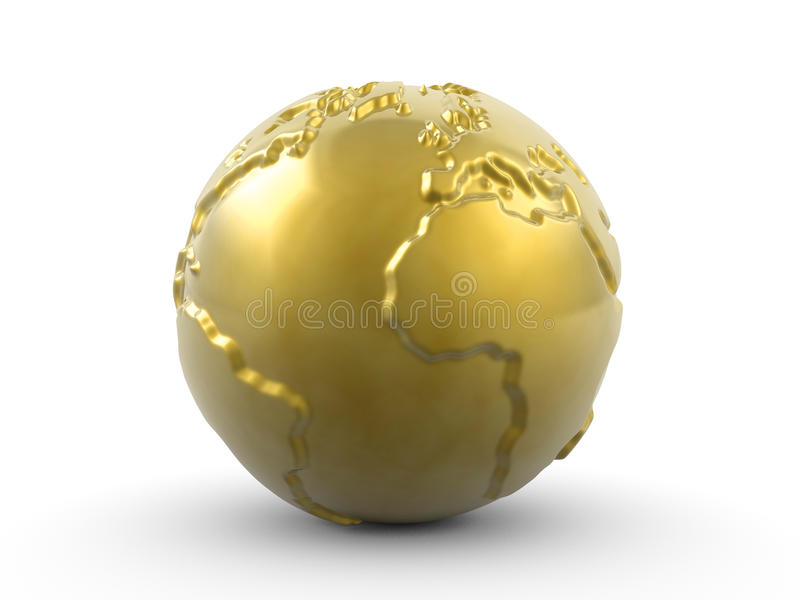Download Golden paperweight stock illustration. Illustration of cutout - 10365552