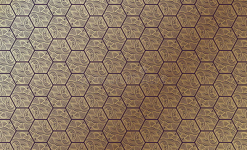 Golden pattern royalty free stock images