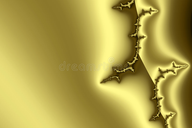 Golden pattern II royalty free illustration