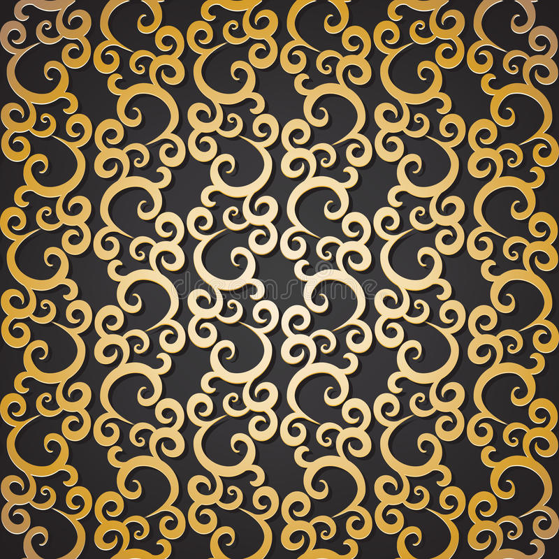 Download Golden pattern stock vector. Illustration of gold, illustration - 36715275