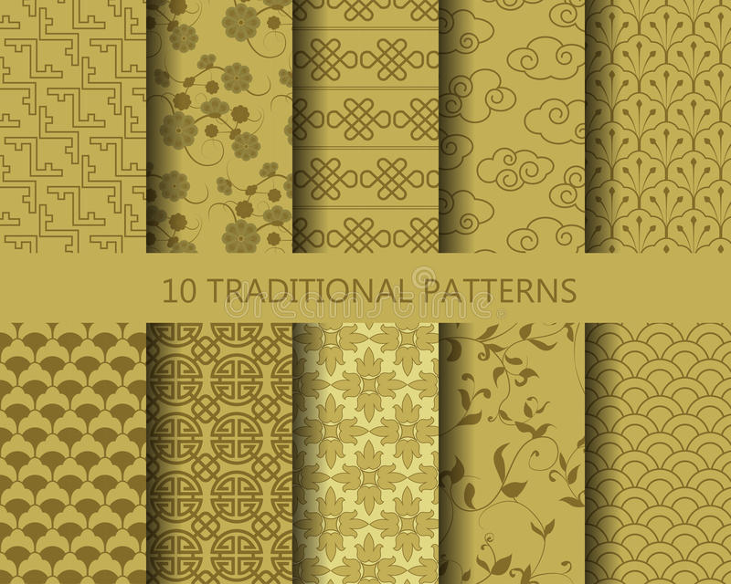 Download Golden Patterns Stock Vector Illustration Of