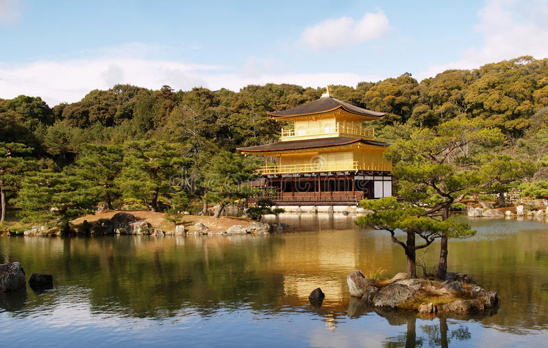 Golden Pavilion Kinkaku-ji Royalty Free Stock Photography