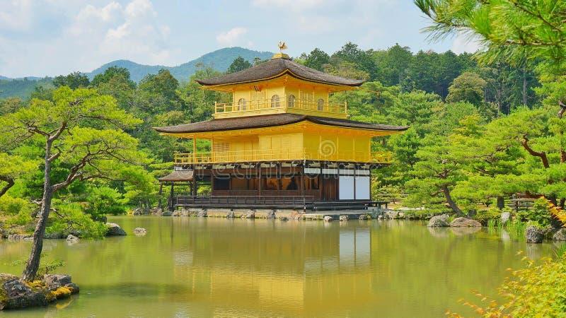 The Golden Pavilion Kinkaku-Ji in Kyoto, Japan royalty free stock image