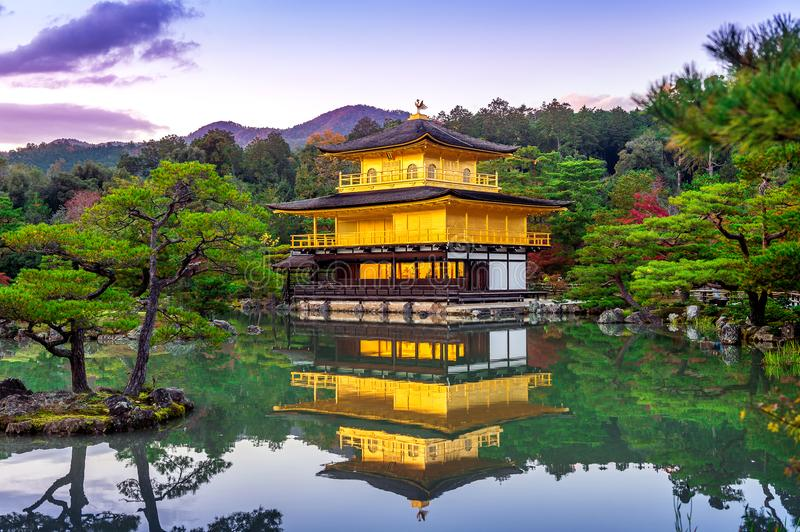 The Golden Pavilion. Kinkakuji Temple in Kyoto, Japan royalty free stock photography