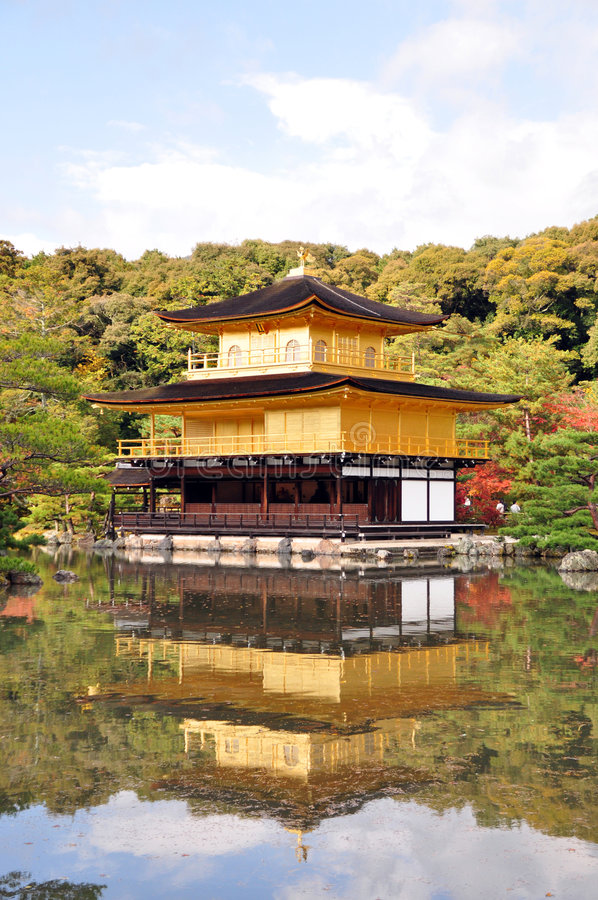 Download Golden Pavillion stock image. Image of japan, peace, garden - 7354849
