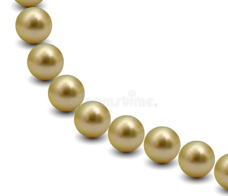 Download Golden Pearls (Vector) stock vector. Image of metal, christmas - 7534199